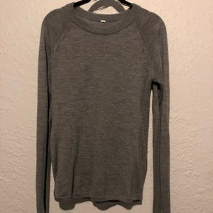 Lululemon sit in lotus sweat grey size 4 NWOT